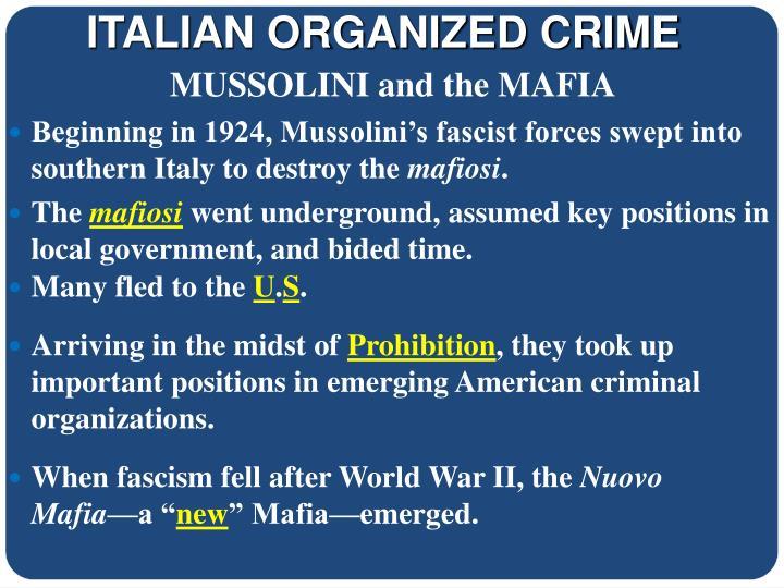 ITALIAN ORGANIZED CRIME