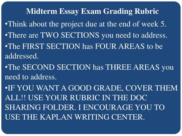 Midterm Essay Exam Grading Rubric