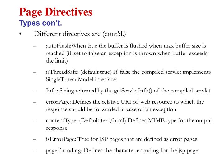 Page Directives