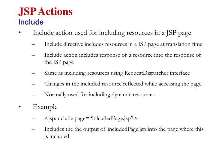 JSP Actions