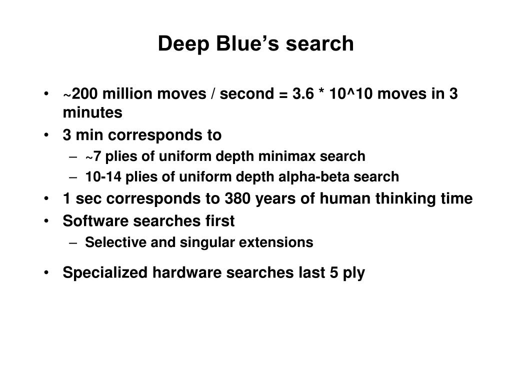 Deep Blue's search