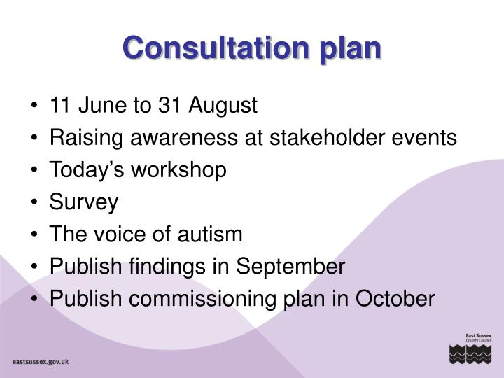 Consultation plan
