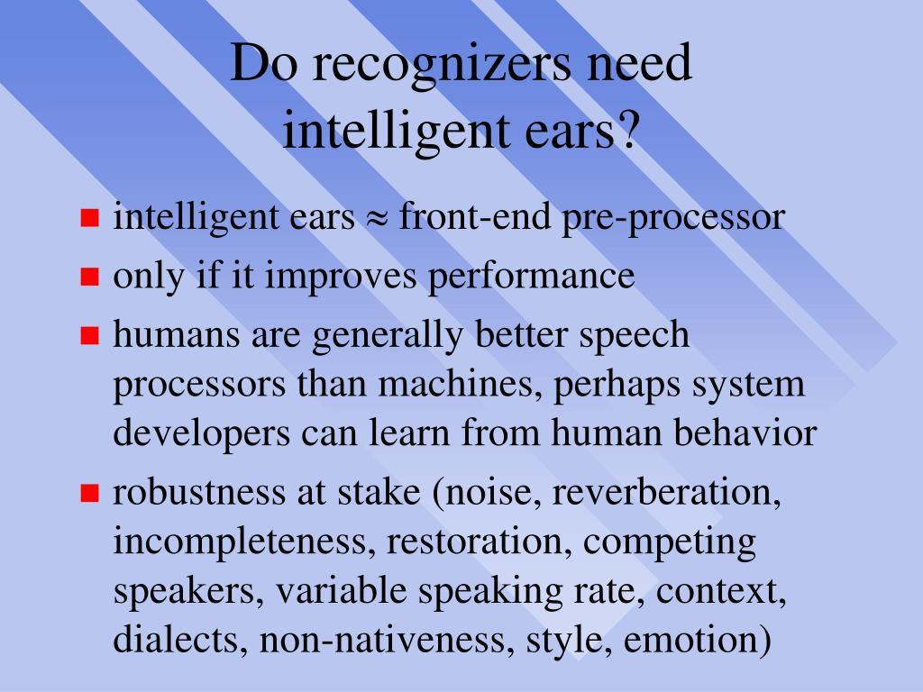 Do recognizers need