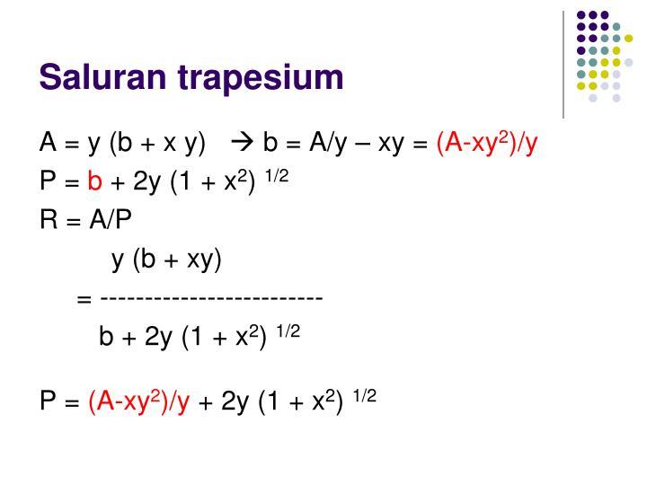Saluran trapesium