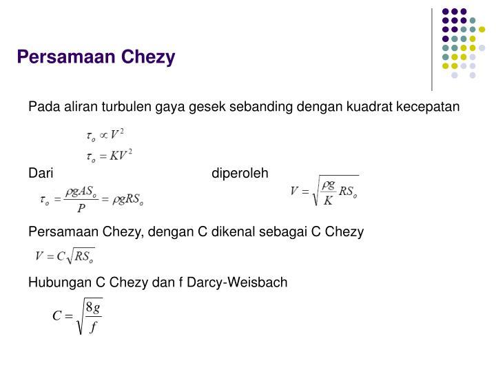 Persamaan Chezy