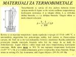 materijali za termobimetale