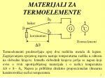 materijali za termoelemente