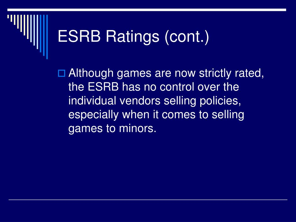 ESRB Ratings (cont.)