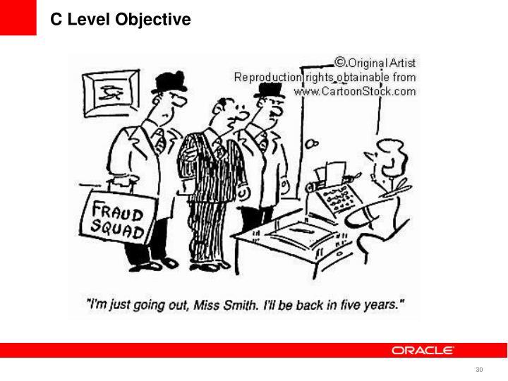 C Level Objective