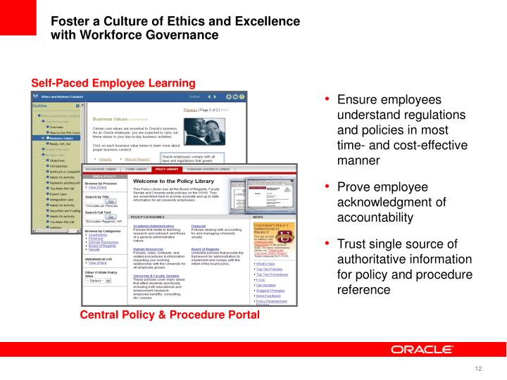 Foster a Culture of Ethics and Excellence