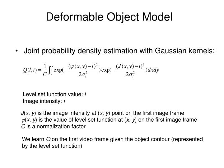 Deformable Object Model