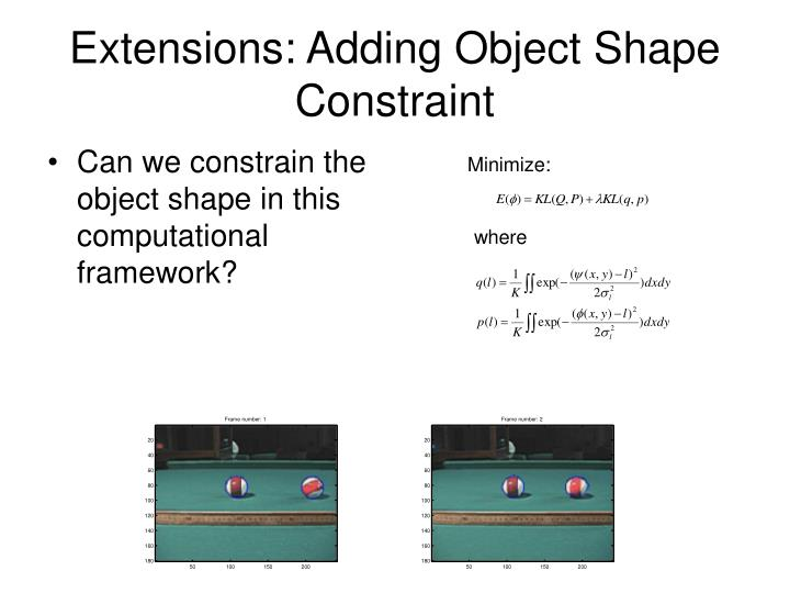 Extensions: Adding Object Shape Constraint