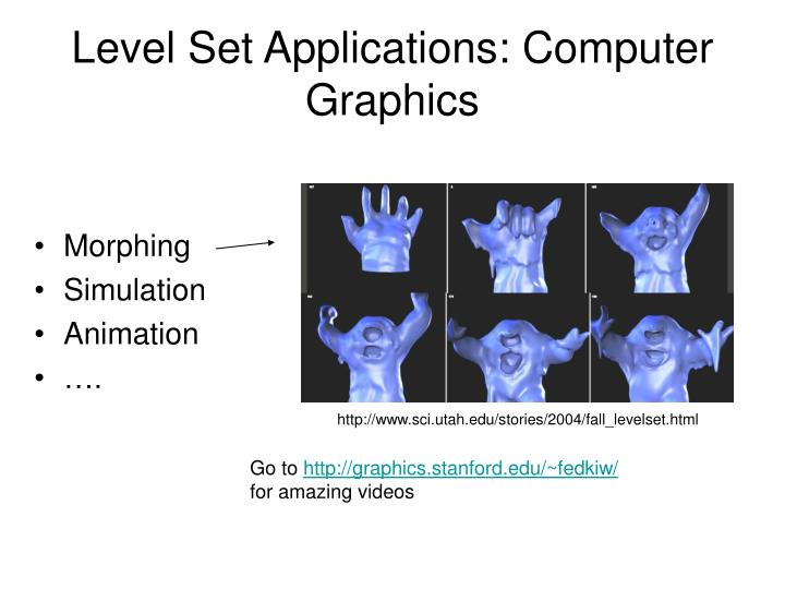 Level Set Applications: Computer Graphics
