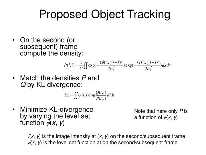 Proposed Object Tracking