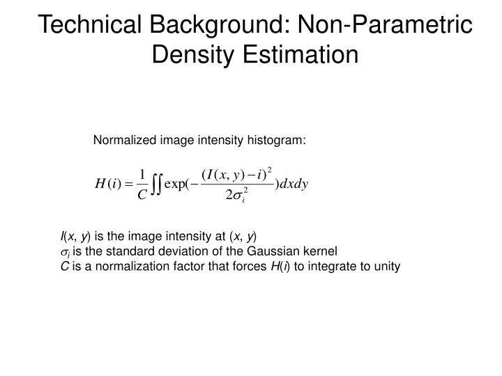 Technical Background: Non-Parametric Density Estimation
