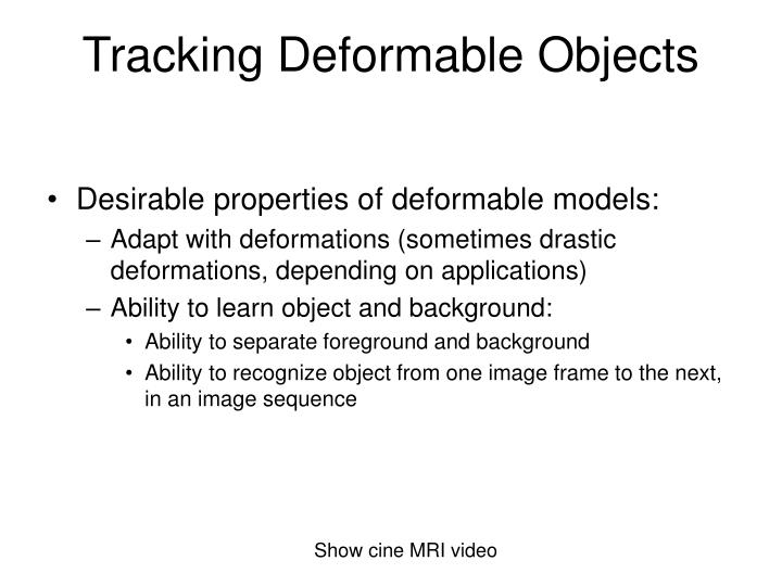 Tracking deformable objects