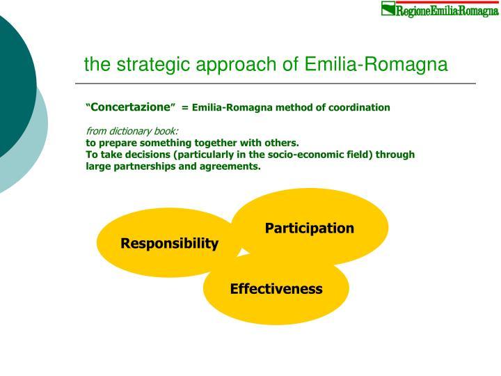 the strategic approach of Emilia-Romagna