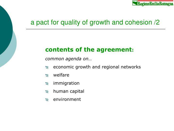 a pact for quality of growth and cohesion /2