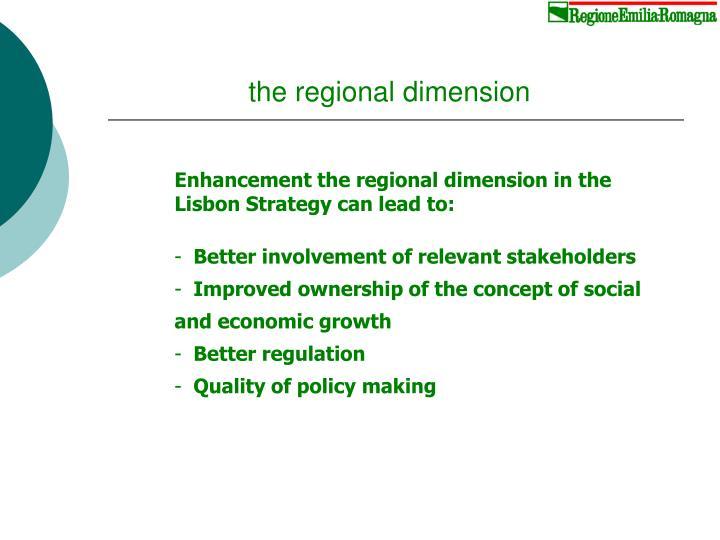 the regional dimension