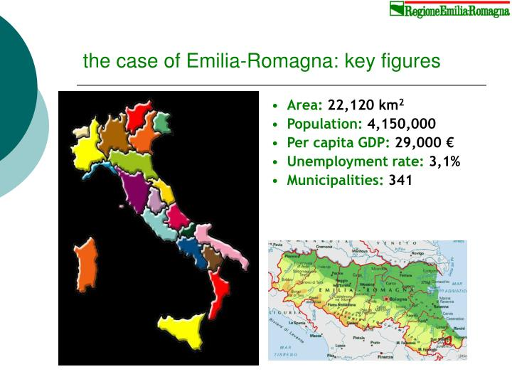 the case of Emilia-Romagna: key figures
