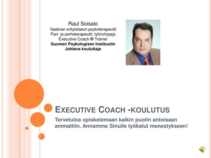 Executive coach koulutus