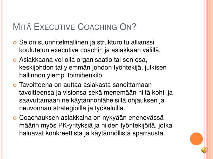 Mit executive coaching on