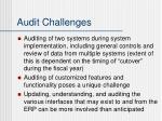 audit challenges
