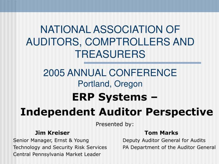 National association of auditors comptrollers and treasurers 2005 annual conference portland oregon