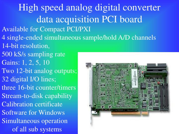 High speed analog digital converter