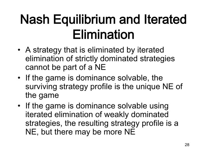 Nash Equilibrium and Iterated Elimination