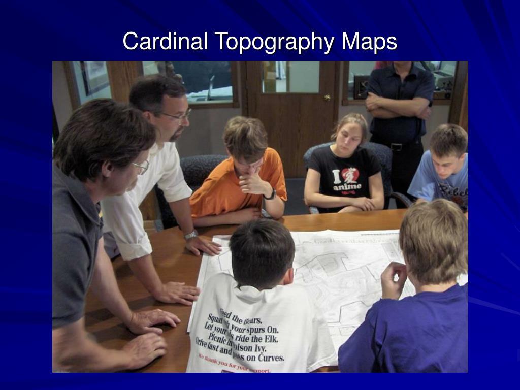 Cardinal Topography Maps