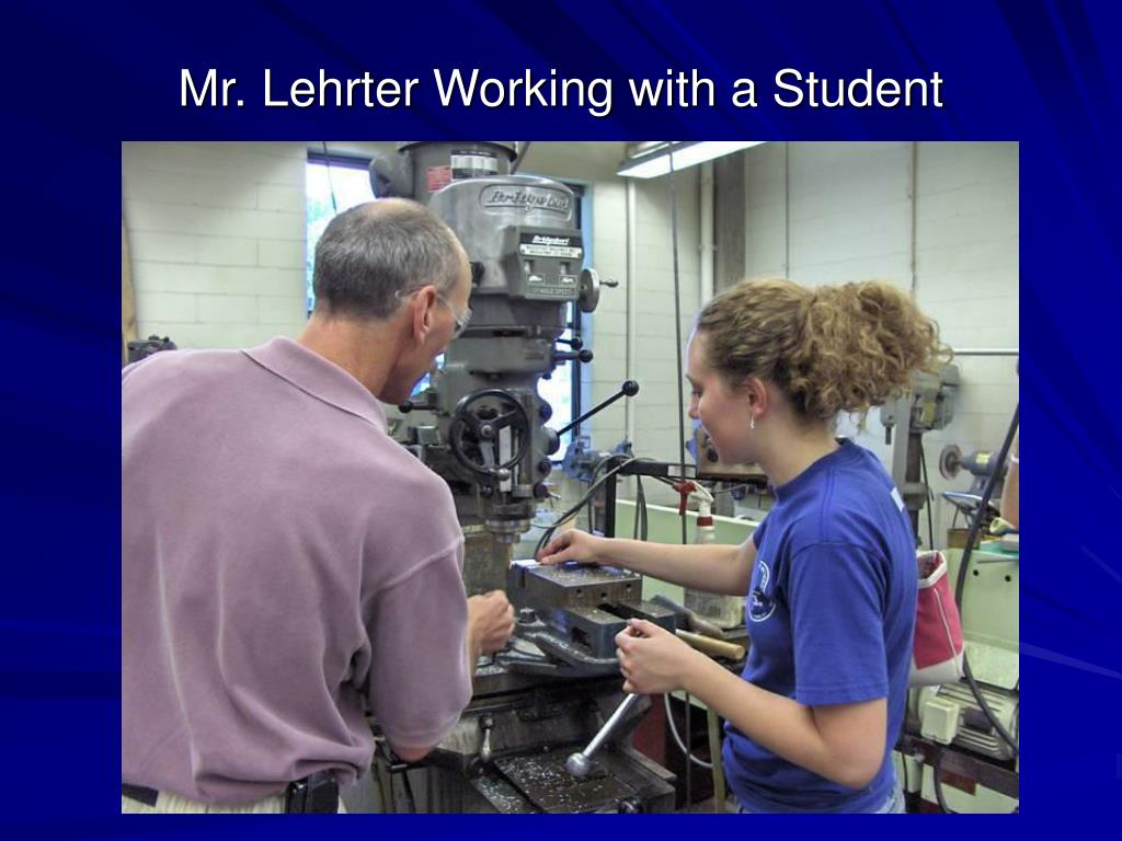 Mr. Lehrter Working with a Student