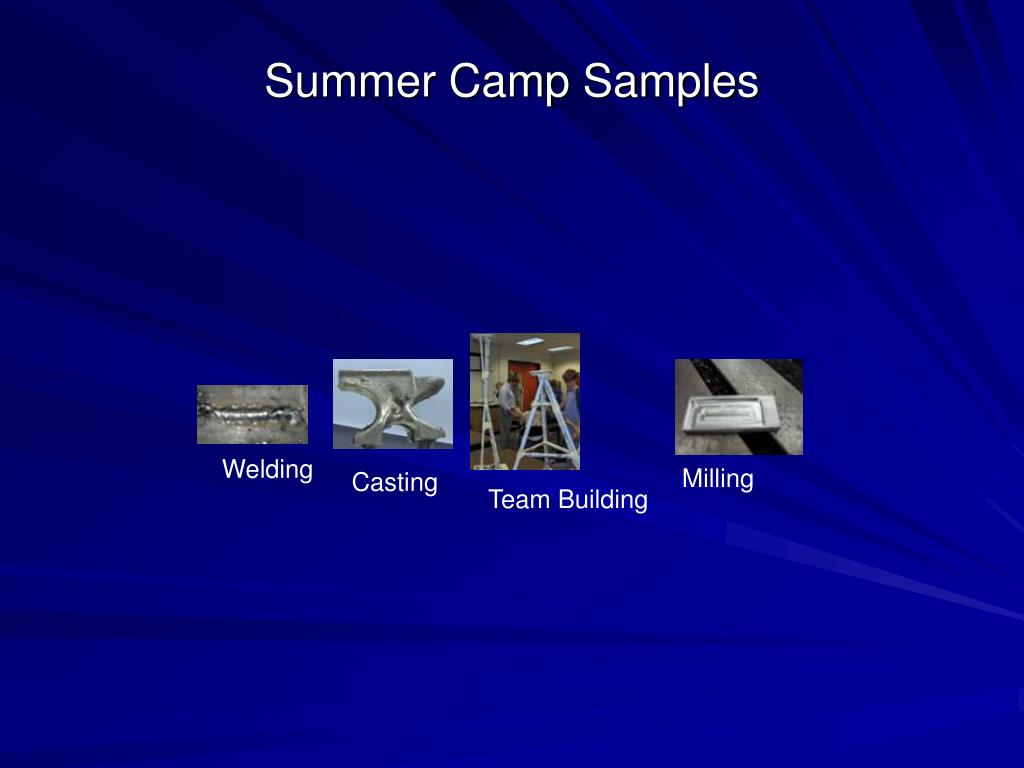 Summer Camp Samples