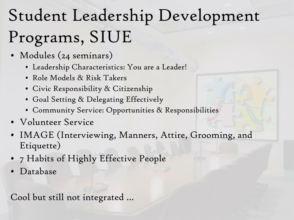 Student Leadership Development Programs, SIUE