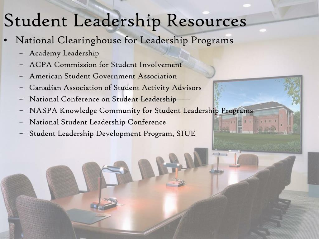 Student Leadership Resources