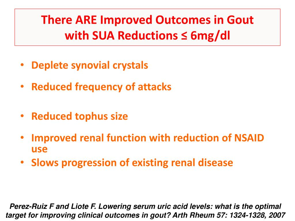 There ARE Improved Outcomes in Gout