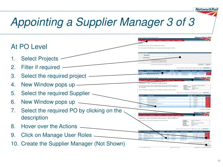 Appointing a Supplier Manager 3 of 3