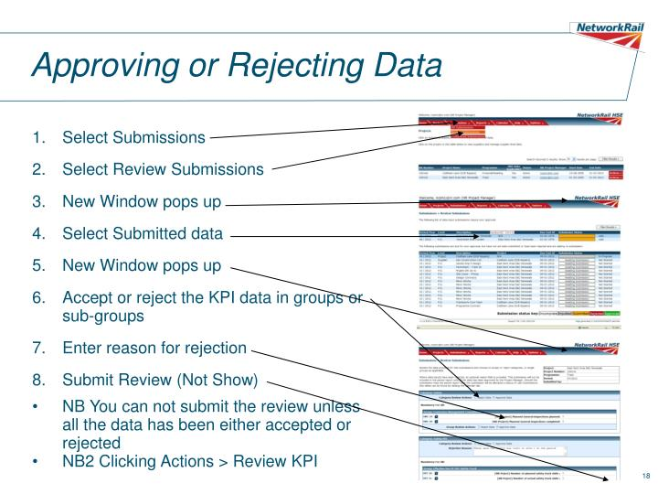 Approving or Rejecting Data