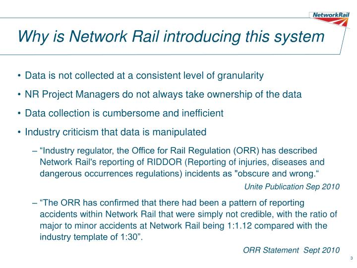 Why is network rail introducing this system