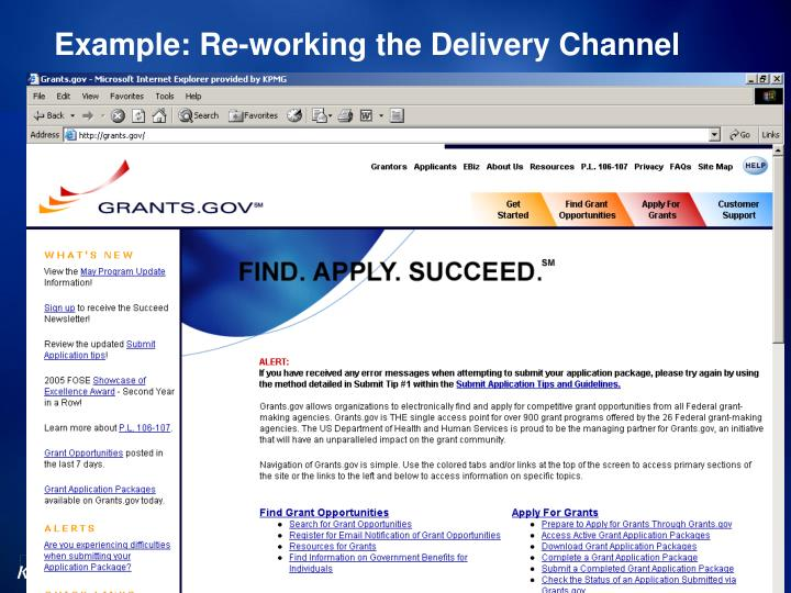 Example: Re-working the Delivery Channel