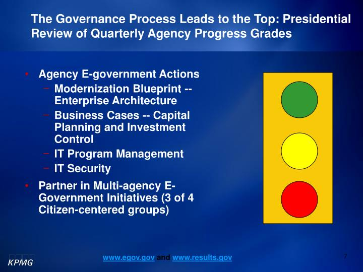 The Governance Process Leads to the Top: Presidential Review of Quarterly Agency Progress Grades