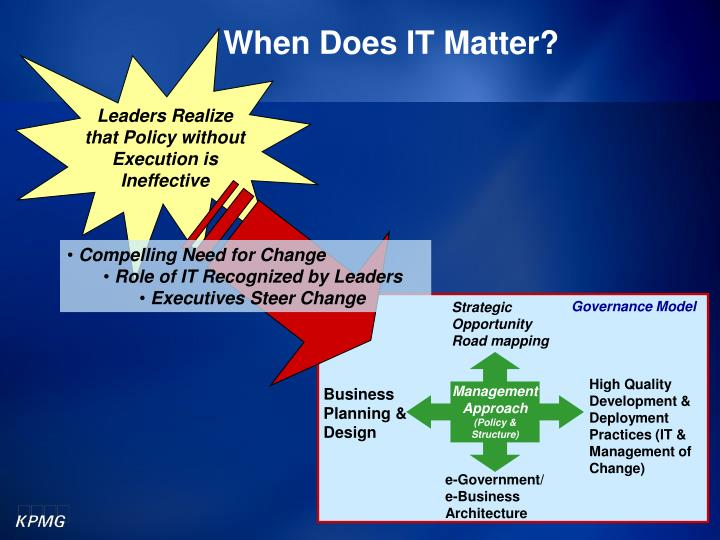 Leaders Realize that Policy without Execution is Ineffective