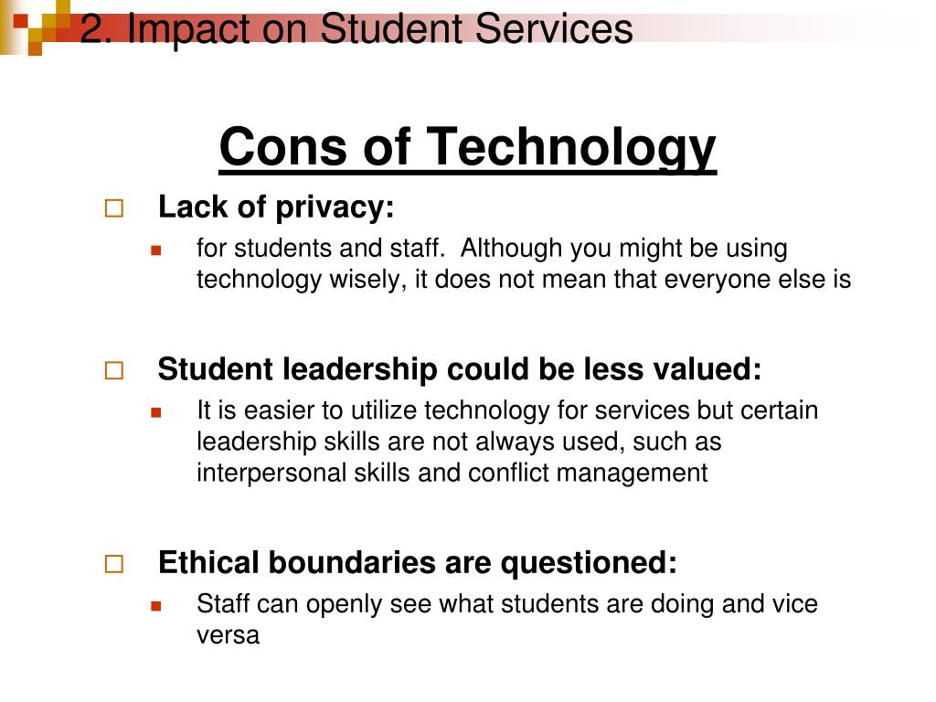 2. Impact on Student Services