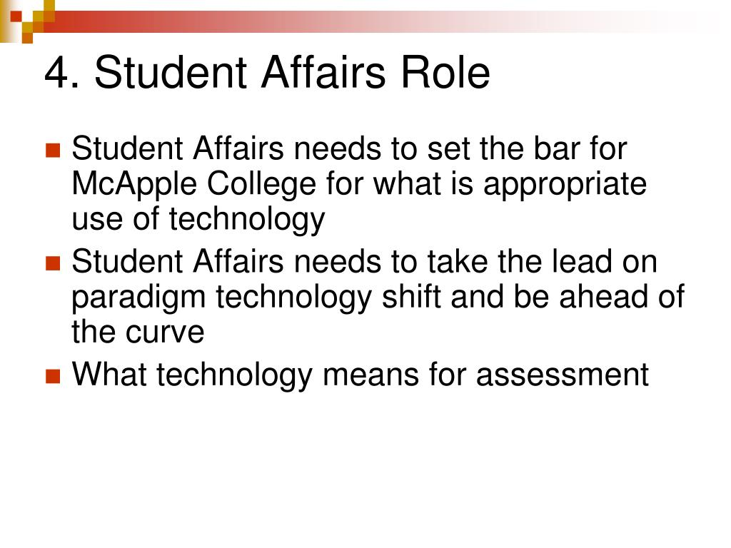 4. Student Affairs Role