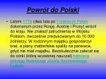 powr t do polski