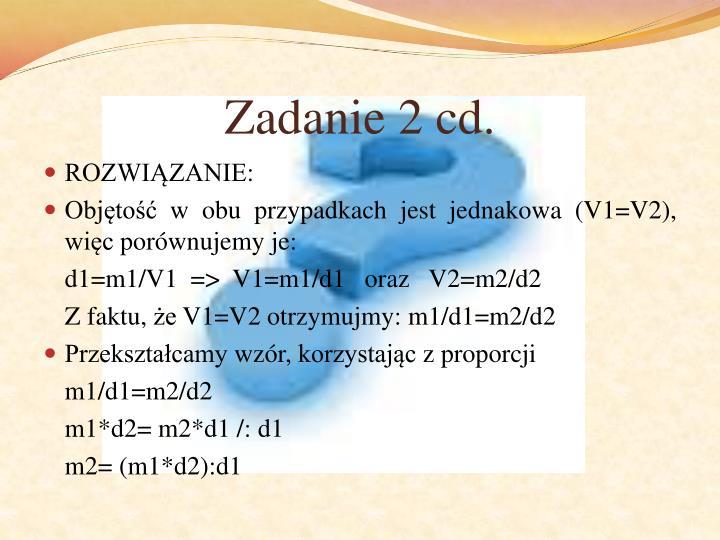 Zadanie 2 cd.