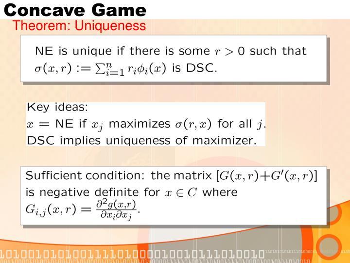 Concave Game