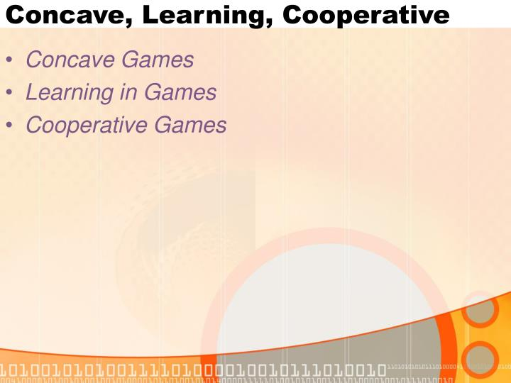 Concave learning cooperative