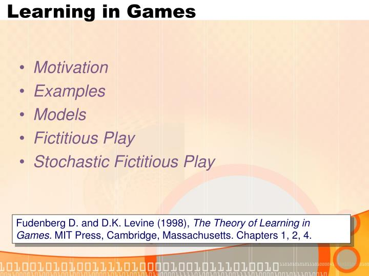 Learning in Games