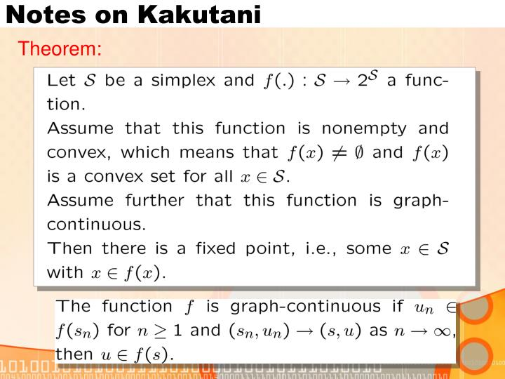 Notes on Kakutani